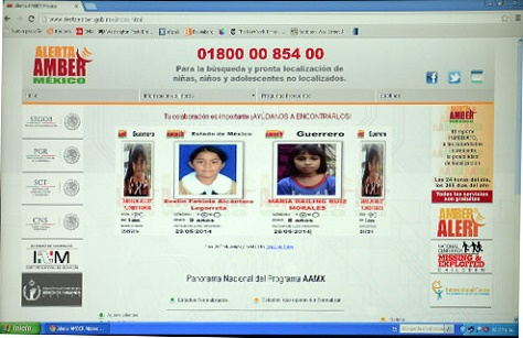 sitio web alerta amber
