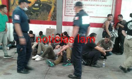 Migrantes asegurados en Texcoco
