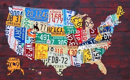 USA--placas