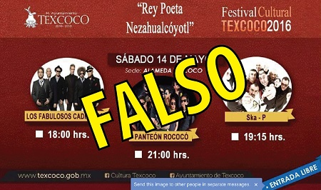 cartel falso