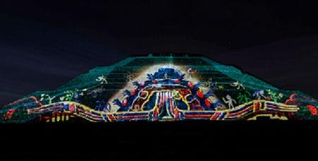 Inauguran epn y eav espect culo de luz y sonido en for Espectaculo de luz y sonido en teotihuacan